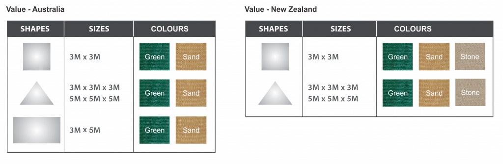 Shade Colours - VALUE